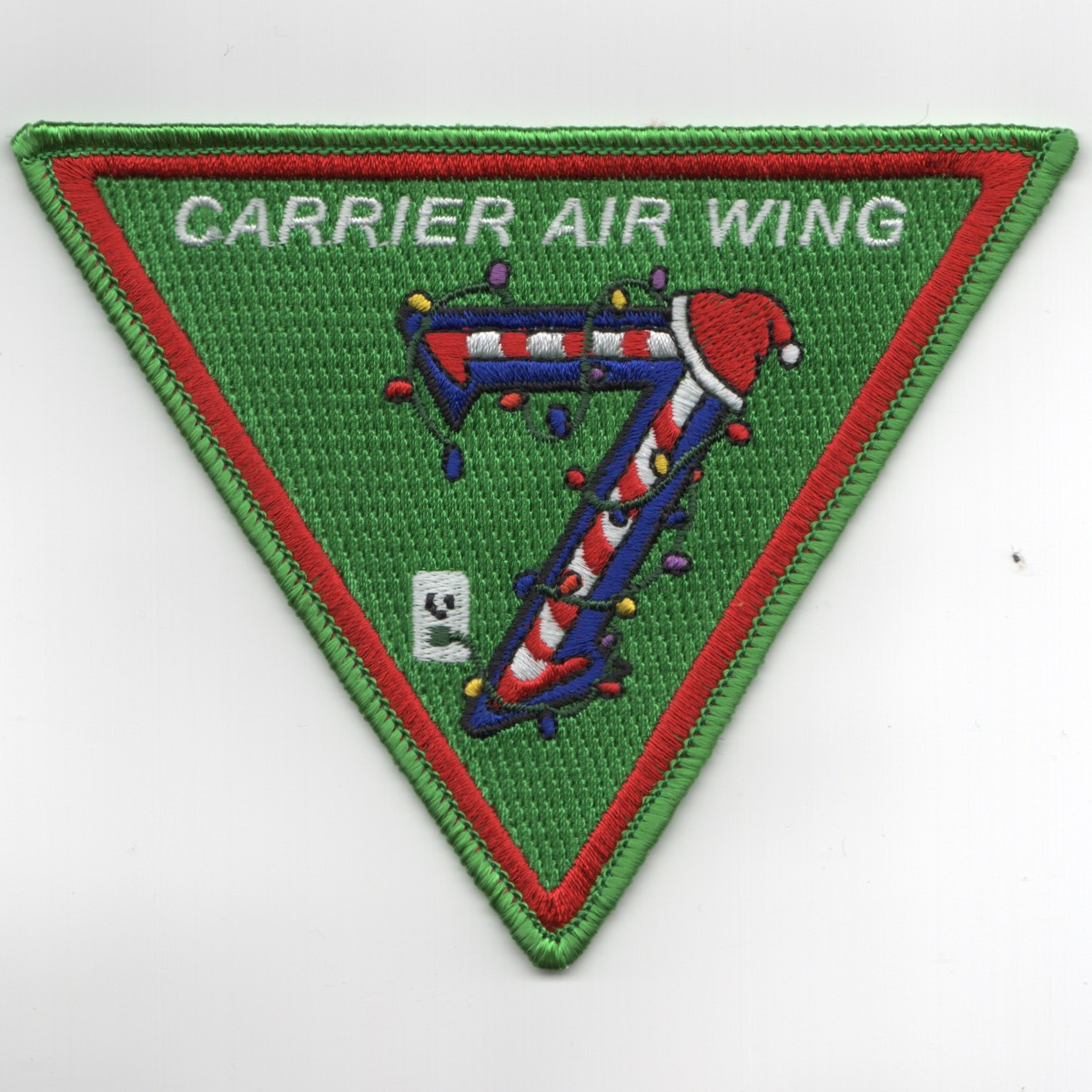 CVW-7 'CHRISTMAS' Patch (Green)