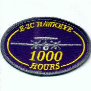 E-2C Hawkeye 1000 Hours Patch (Blue)