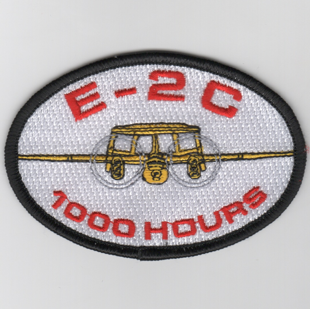 E-2C Hawkeye 1000 Hours Patch (White)