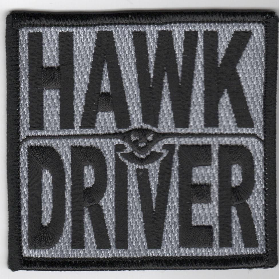 E-2C 'Hawk Driver' Patch (Black)