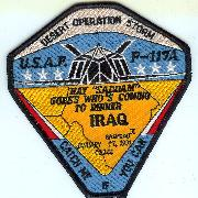 F-117A Desert Storm 'Coming to Dinner' Patch