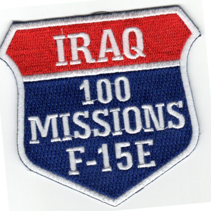 F-15E 100 Missions (Iraq) Patch