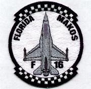 93FS 'FL Makos Patch (B&W Checkered)