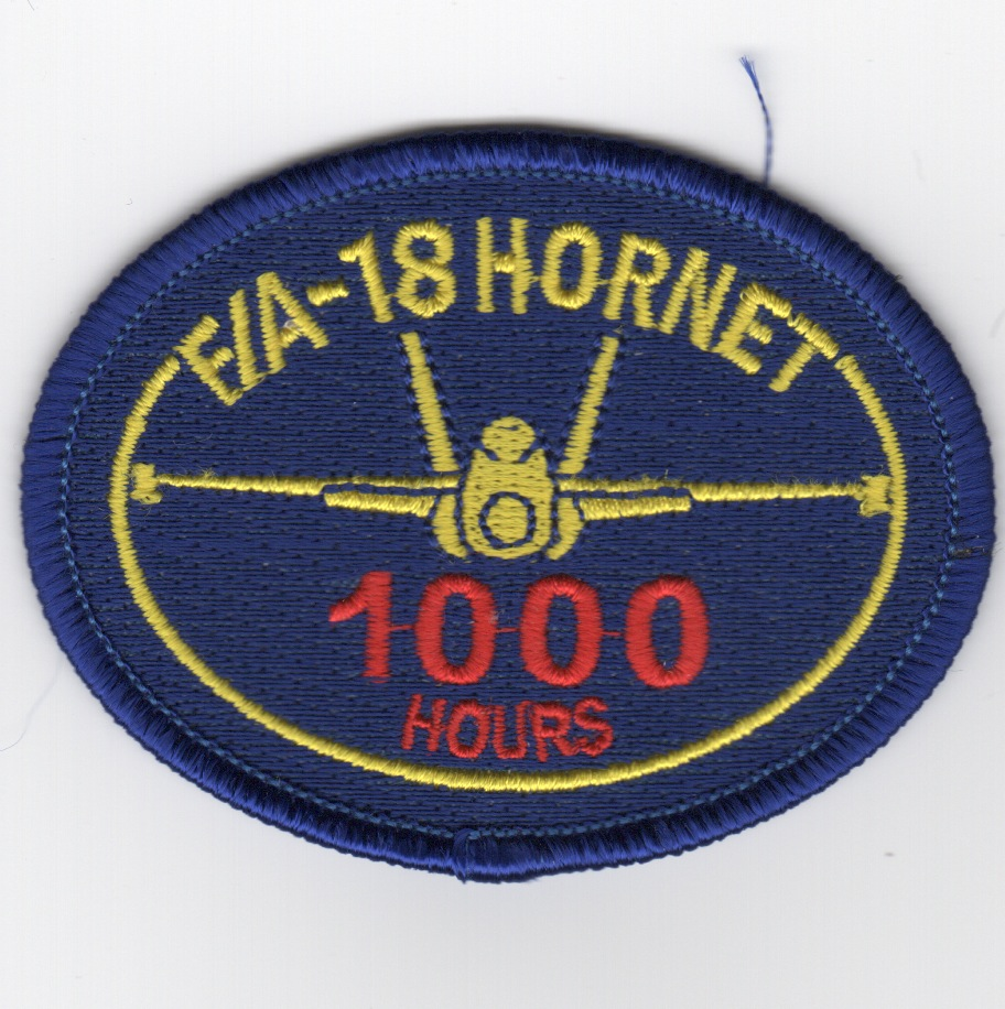 F/A-18 1000 Hours Patch (No Velcro)