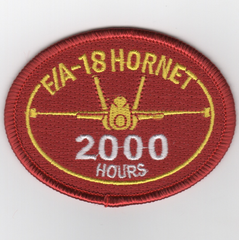 F/A-18 2000 Hours Patch (No Velcro)