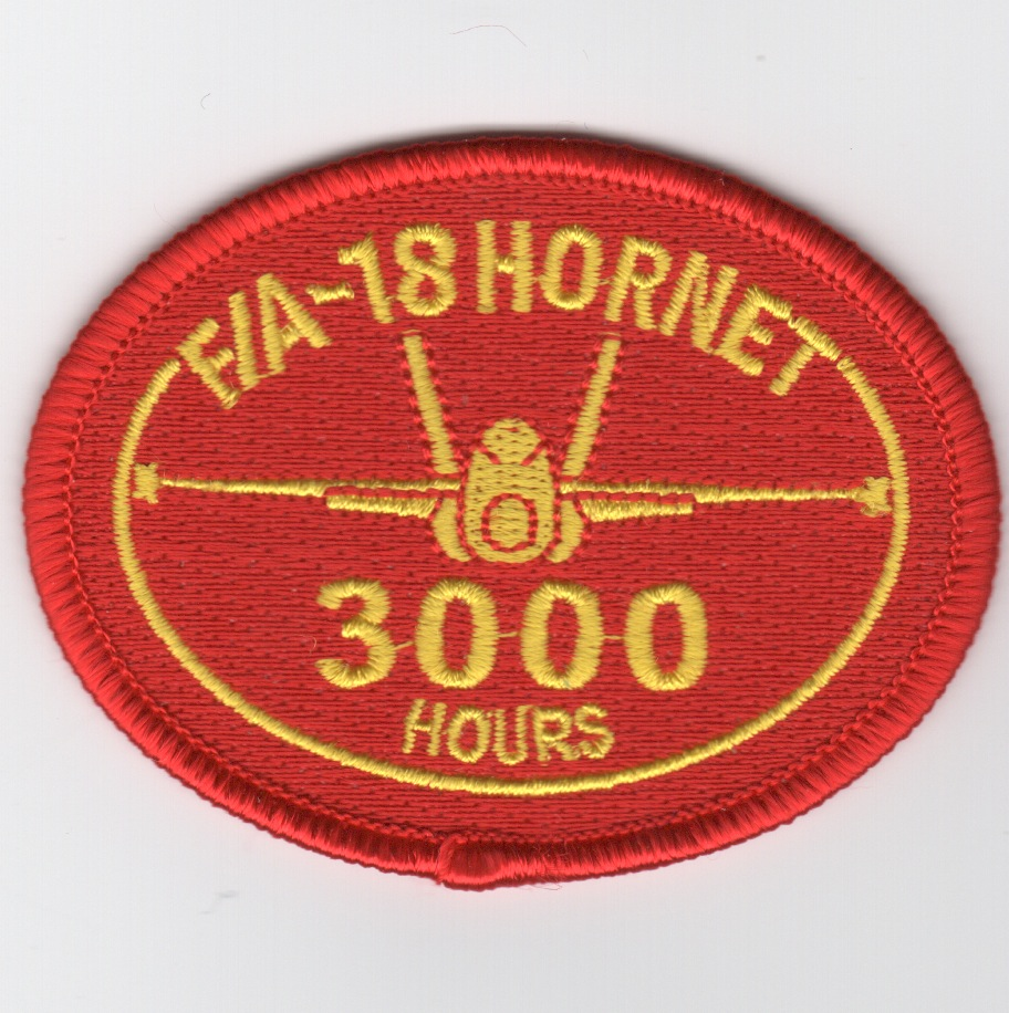F/A-18 3000 Hours Patch (No Velcro)