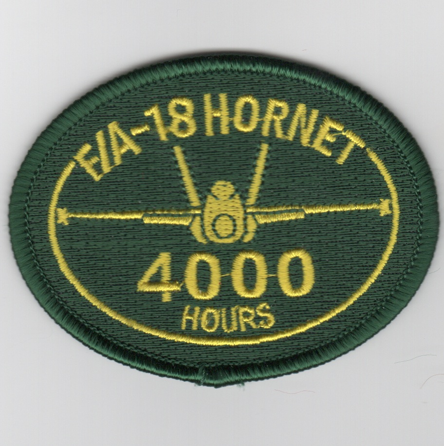 F/A-18 4000 Hours Patch (No Velcro)