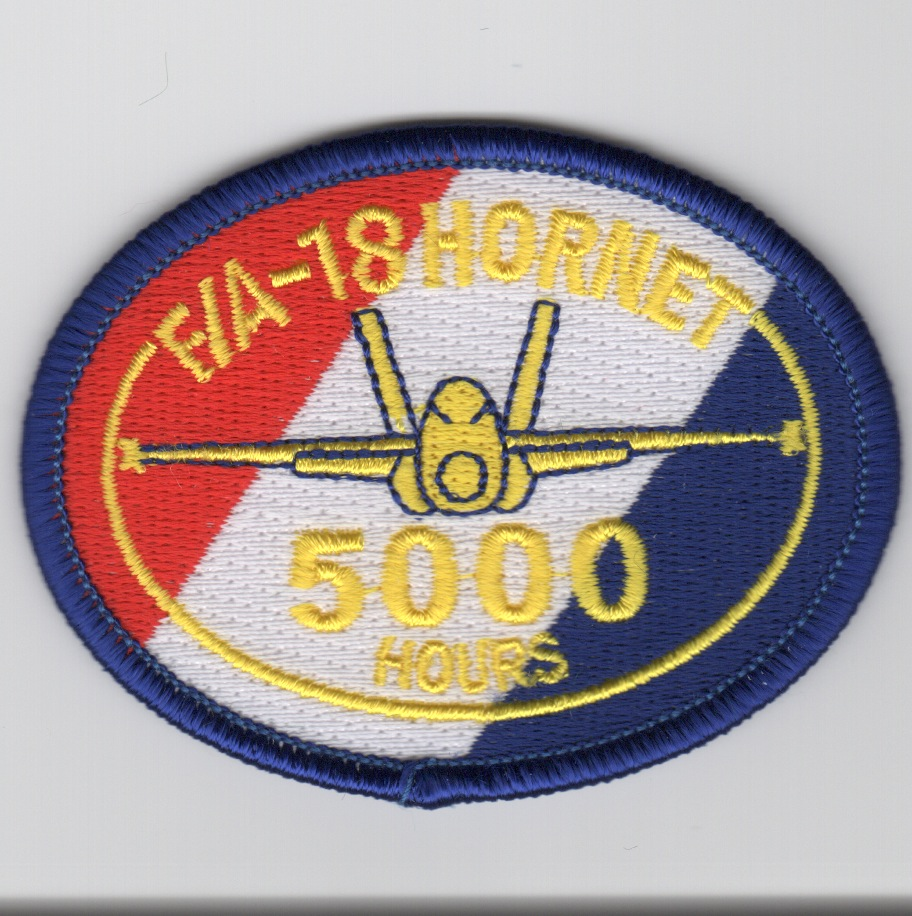 F/A-18 5000 Hours Patch (No Velcro)