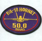 F-18 50.0 Hours Patch