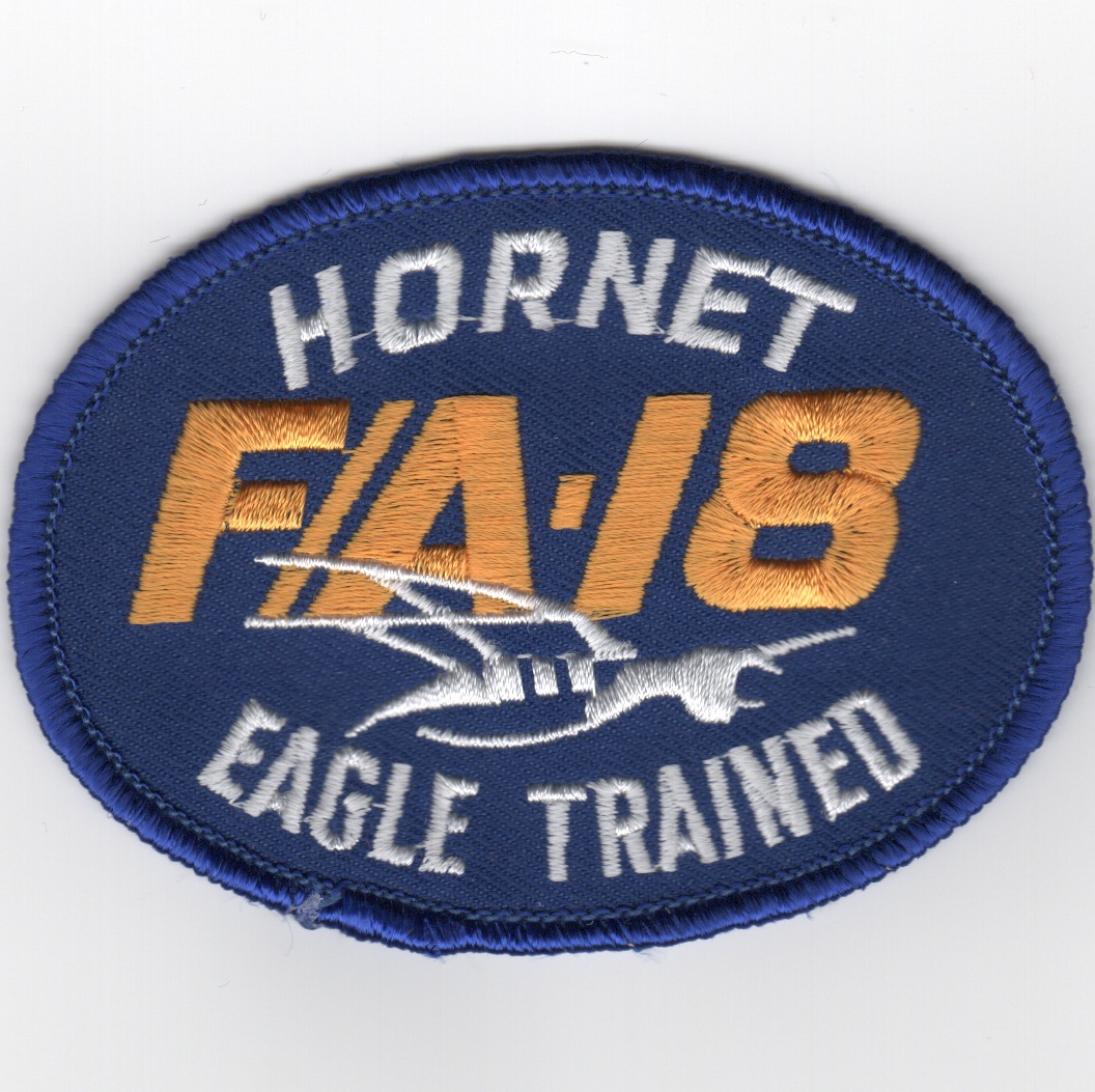 F/A-18 EAGLE-Trained Oval (Blue)