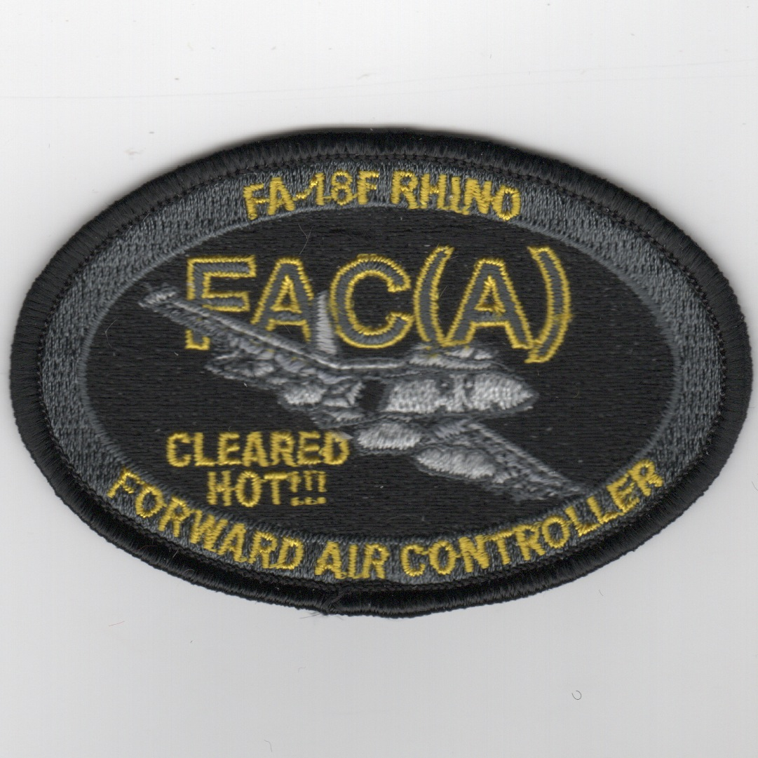F/A-18F FAC-A Patch (Subd-Oval)