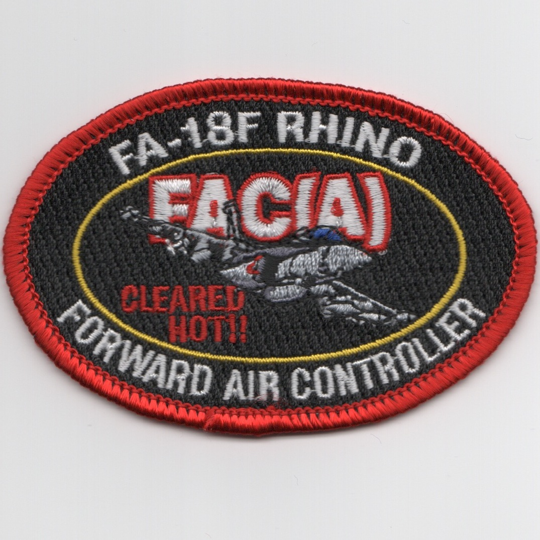 F/A-18F FAC-A Patch (Red-Oval)