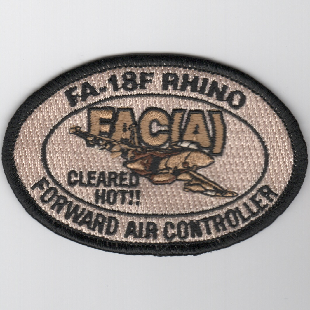 F/A-18F FAC-A Patch (Des-Oval)