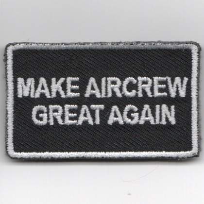 FSS - 'Make AIRCREW Great Again' (Black/Velcro)