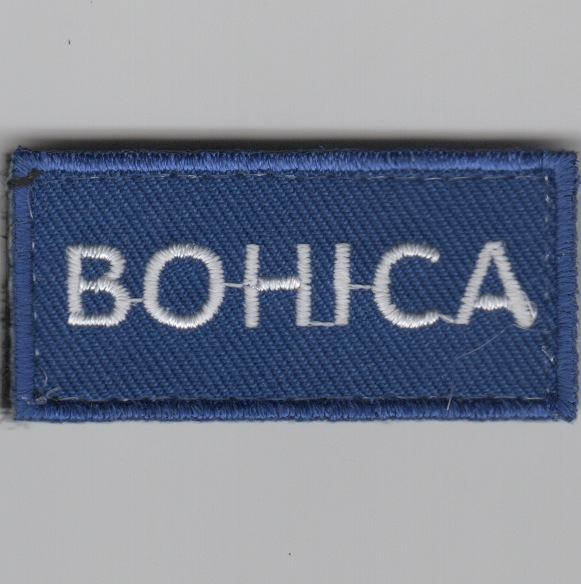 Flight Suit Sleeve - BOHICA (Blue)