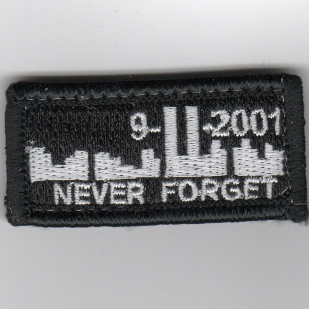 Flight Suit Sleeve - NEVER FORGET (Black)