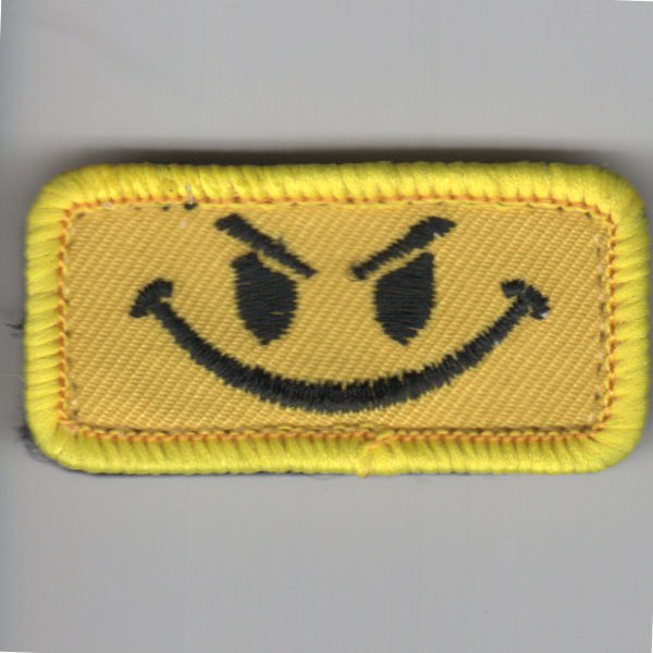Flight Suit Sleeve - Evil Smiley (Yellow)