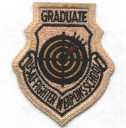 USAF Fighter Weapons School Graduate (Des-NO VELCRO)