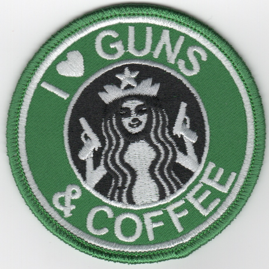 'I LOVE GUNS & COFFEE' Patch