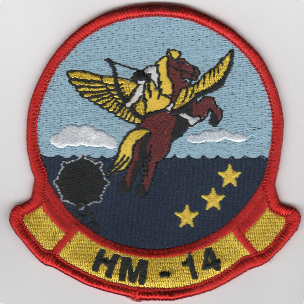 HM-14 Squadron Patch (Med/Red Border)
