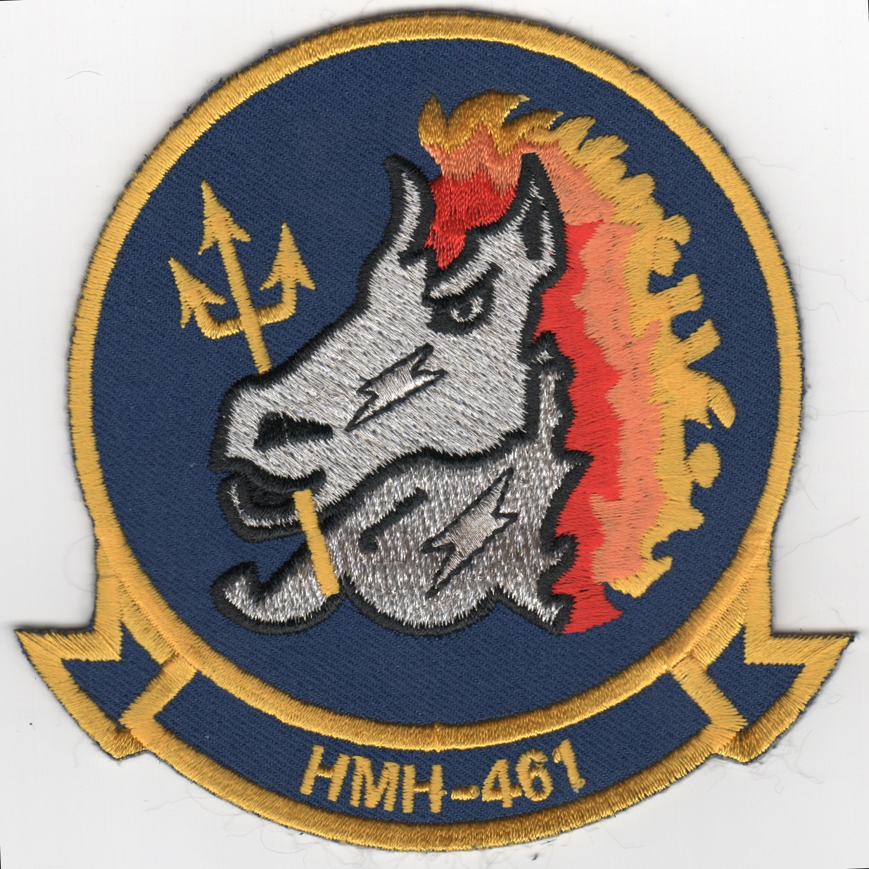HMH-461 Squadron Patch (Blue/Yellow)