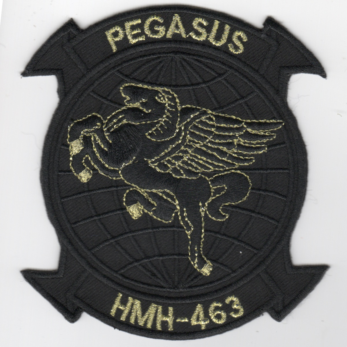 HMH-463 'Pegasus' Patch (Black/Gold Letters)