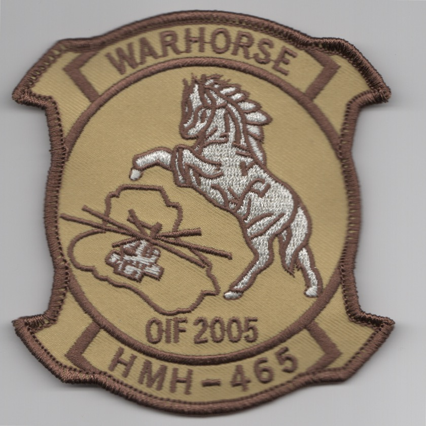HMH-465 2005 OIF Patch (Desert Background)
