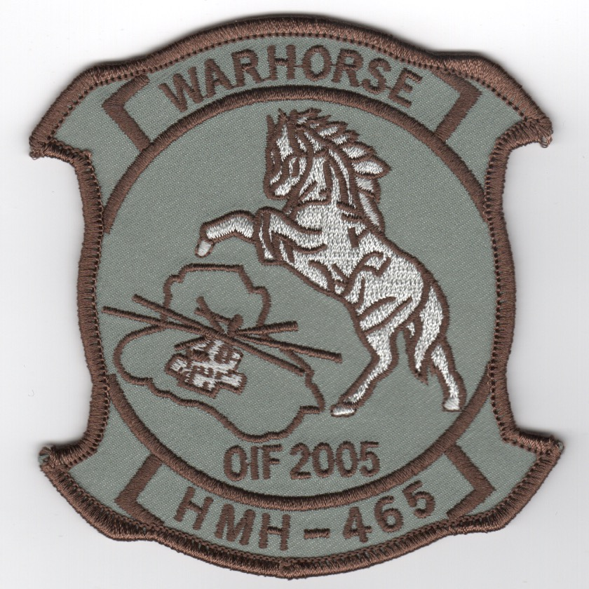 HMH-465 2005 OIF Patch (Gray Background)