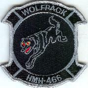HMH-466 '1-Wolf' Squadron Patch (Blk/Gray)