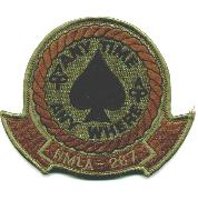 HMLA-267 Squadron Patch (Subd/Red)