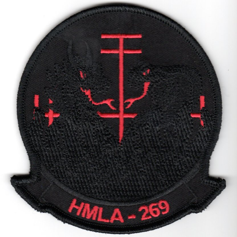 HMLA-269 Squadron Patch (Black/Red Letters)