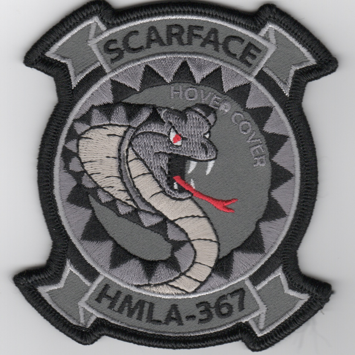 HMLA-367 'Hover Cover' Patch (Gray)