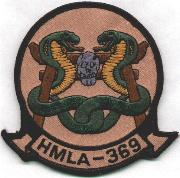 HMLA-369 Squadron Patch (Subdued)