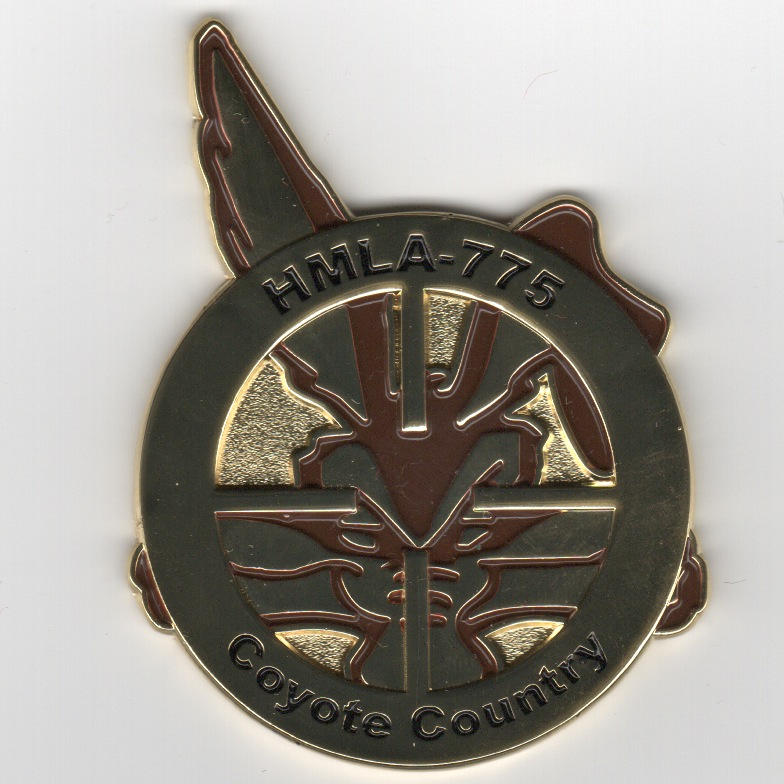 HMLA-775 Squadron Coin (Front)