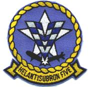 HS-5 Squadron Patch (Small/Blue 'V')