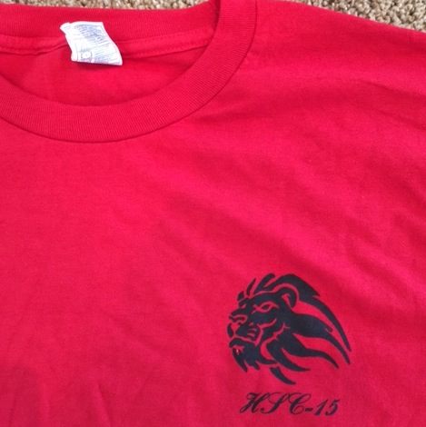 HSC-15 T-shirt (Red/FRONT)