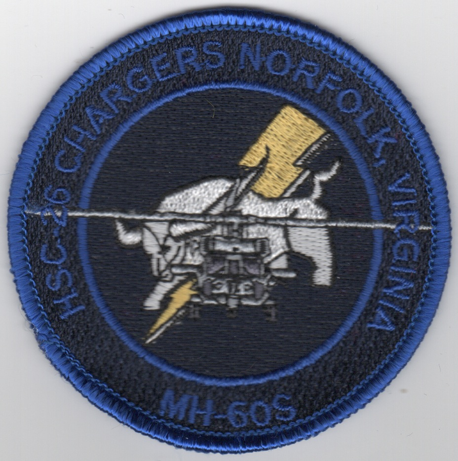 HSC-26 MH-60S Bullet (Black/Blue Text)