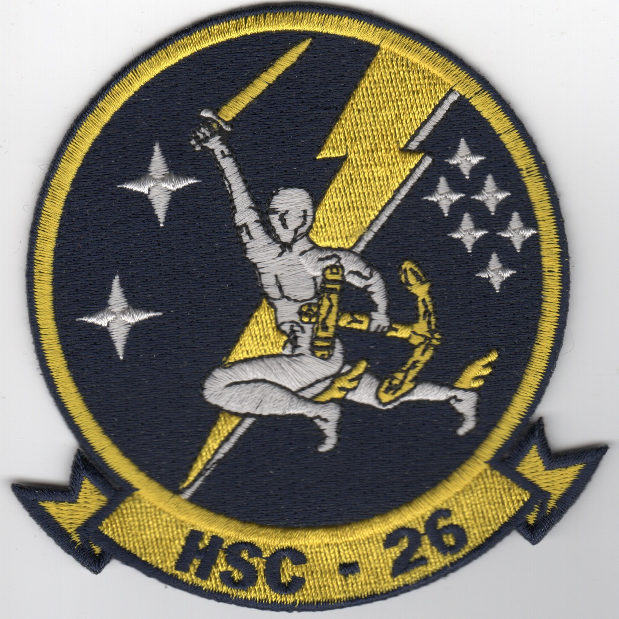 HSC-26 Squadron Patch (Blue/Man)