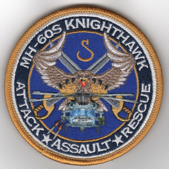 HSC-28 MH-60 'Knighthawk' (Gold Border/Embroidered)