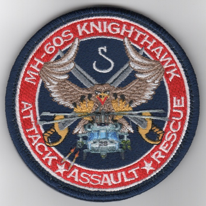 HSC-28 MH-60 'Knighthawk' (Red Border/Embroidered)