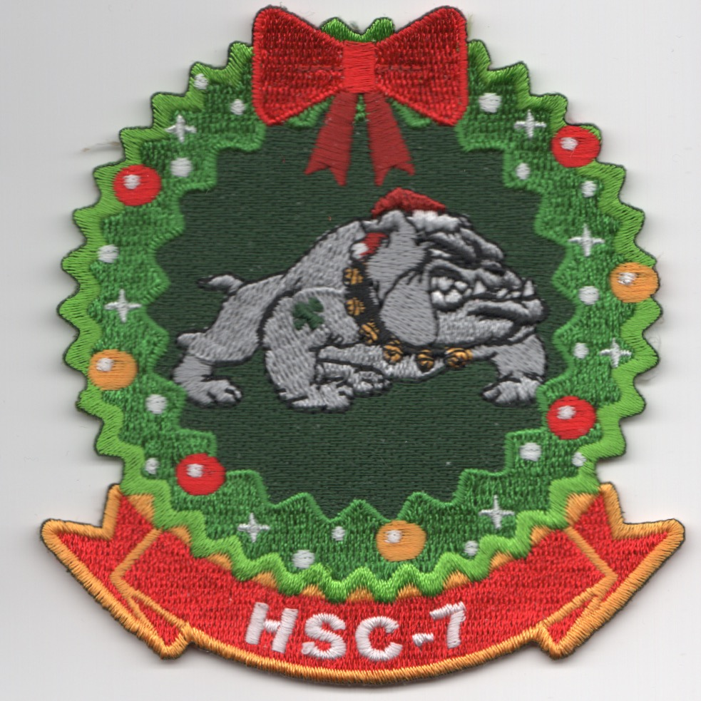 HSC-7 'CHRISTmas'-Wreath Patch