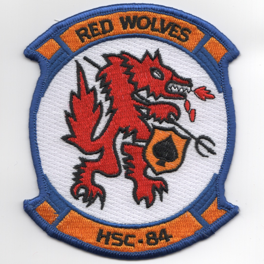 HSC-84 Squadron Patch (White/Red Dragon)
