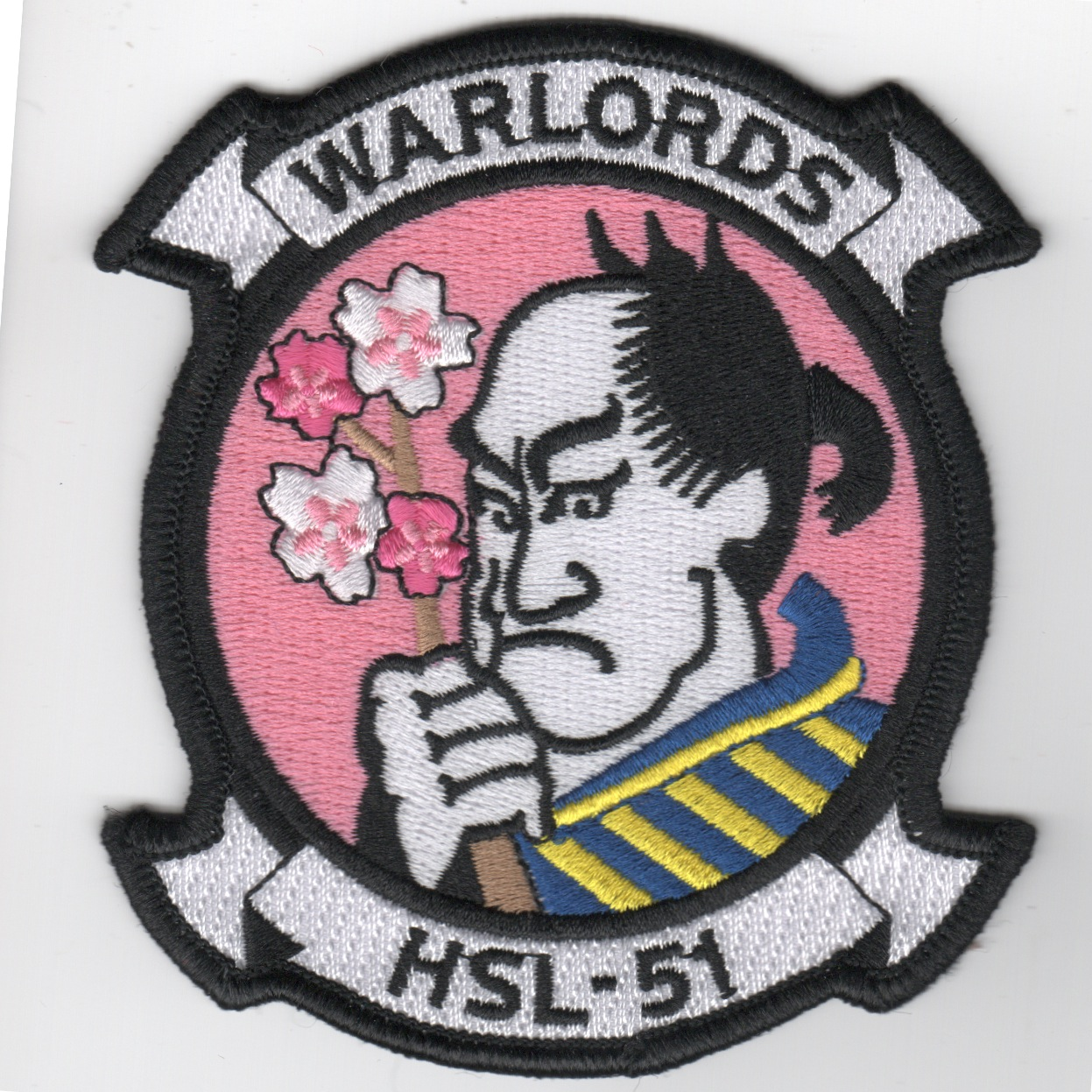 HSL-51 'Warlords' Squadron Patch (Pink)