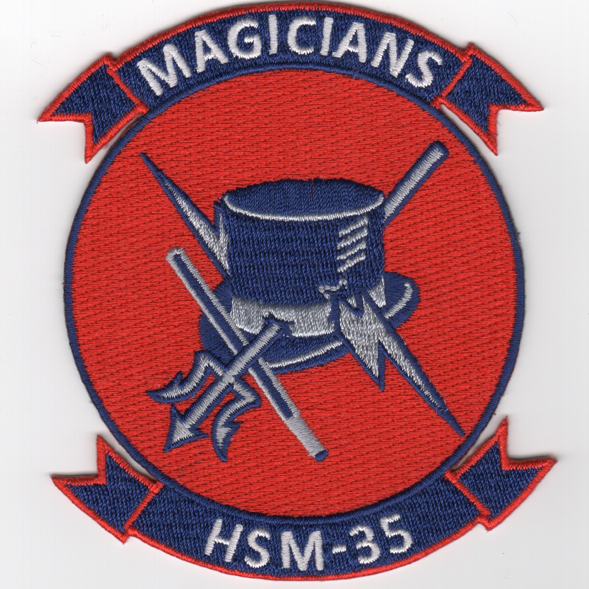 HSM-35 'Magicians' Squadron Patch (Red)