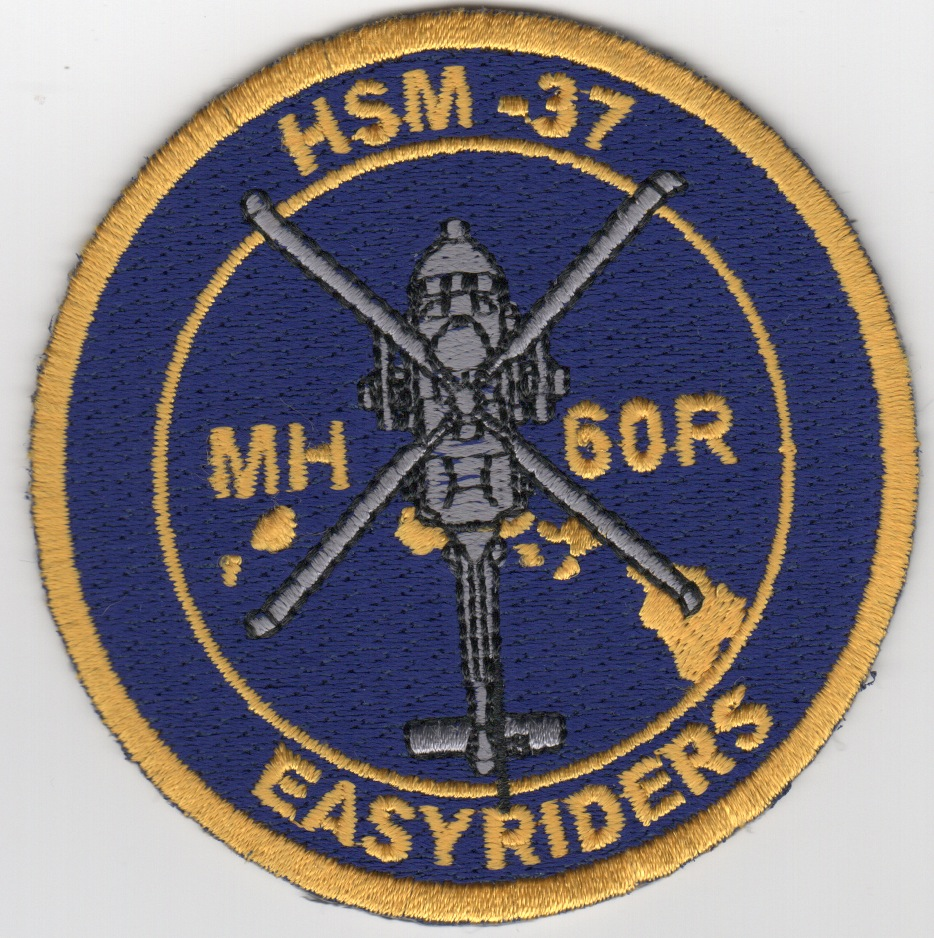 HSM-37 'MH-60R' Easyriders Patch (Fully Embroidered)
