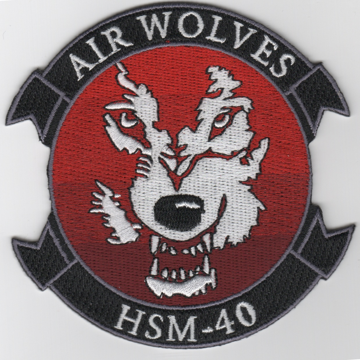 HSM-40 Squadron Patch (Red)