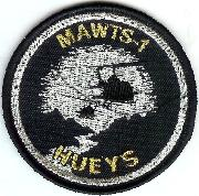 MAWTS-1 'Hueys' Patch (Blk/Silver)
