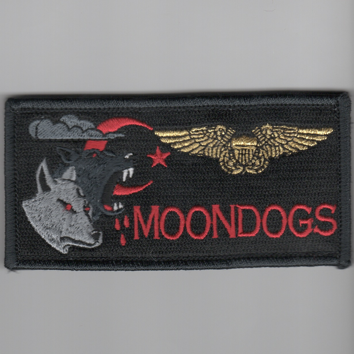 'MOONDOGS' ECMO Nametag (Black)