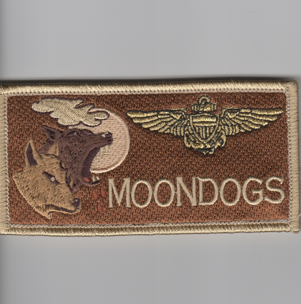 'MOONDOGS' Pilot Nametag ('REGULAR' Des)