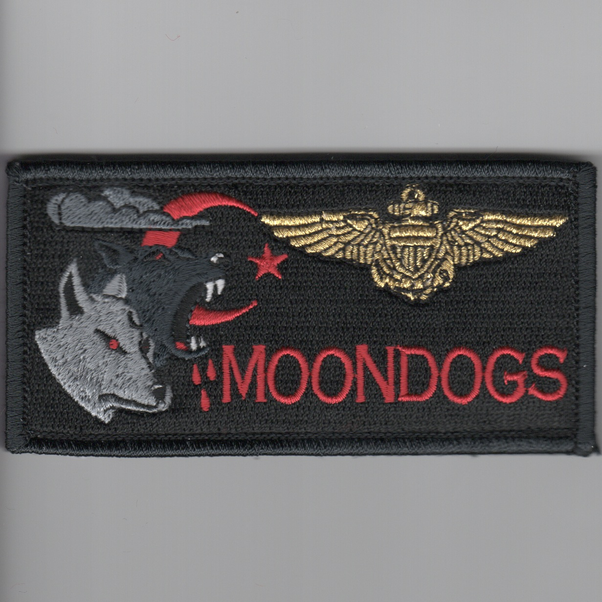 'MOONDOGS' Pilot Nametag (Black)